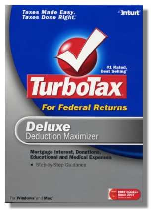 2007 TurboTax Deluxe Federal Turbo Tax