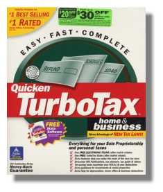 TurboTax Premier 2001 Federal Returns Home & BusinessTurbo Tax