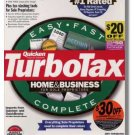 TurboTax Premier 1998 Federal Returns Home & Business Turbo Tax