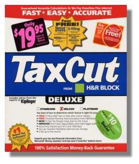 2004 TaxCut Deluxe Federal H&R Block Tax Cut