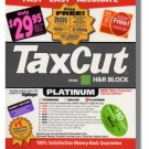 2002 TaxCut Home & Schedule C Business H&R Block Tax Cut federal return
