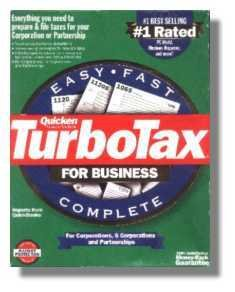 TurboTax Business 1998 Federal Turbo Tax Corporations and Partnerships