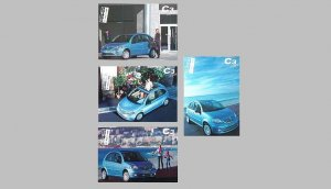 SET OF CITROEN C3 ADVERTISING POSTCARDS FROM TAIWAN