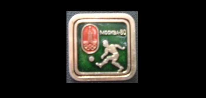 OLYMPICS MOSCOW 1980 SPORT FOOTBALL SOCCER PIN BADGE