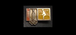 OLYMPICS MOSCOW 1980 EQUESTRIAN SPORT PIN BADGE