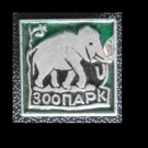 SMALL SQUARE ELEPHANT ZOOPARK PIN BADGE