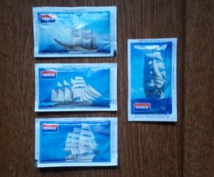 TALL SHIPS SAILING SHIPS IONIA 5gr SUGAR PACKETS NEW AND PERFECT
