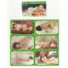 CHINA SET OF SIX CHINESE EROTIC PHOTO TELEPHONE CARDS