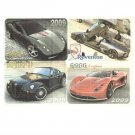 FOUR RUSSIAN UKRAINIAN LANGUAGE 2009 SUPER CAR CALENDAR CARDS