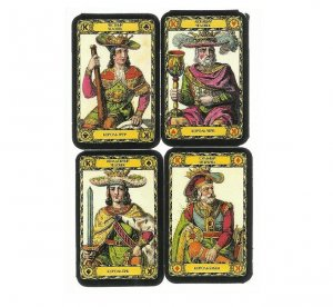 LOVERS FORTUNE CARDS SHORT SET RUSSIAN FORTUNE AND PLAYING CARDS