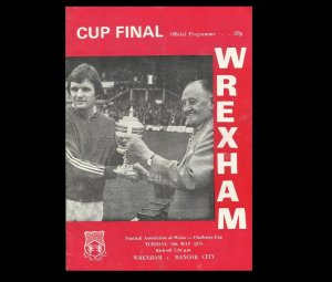 WREXHAM BANGOR CITY WELSH FOOTBALL CUP FINAL 9th MAY 1978
