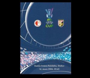 SLAVIA PRAGUE PALERMO UEFA CUP FOOTBALL PROGRAMME 16th FEBRUARY 2006