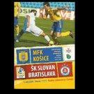 MFK KOSICE SK SLOVAN BRATISLAVA SLOVAK CUP SEMI FINAL FOOTBALL PROGRAMME 2009