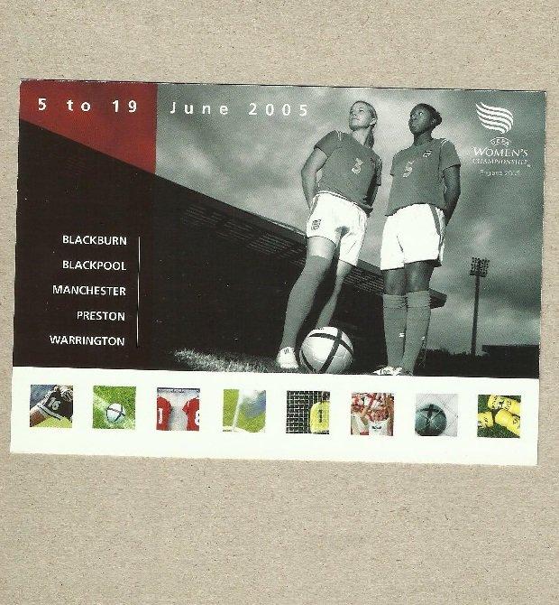 WOMENS EUROPEAN FOOTBALL CHAMPIONSHIP 2005 ADVERTISING POSTCARD