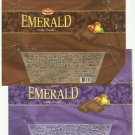 PAIR OF 42gr ZUMRUT EMERALD CHOCOLATE WRAPPERS FROM TURKEY