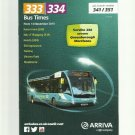ARRIVA 333 334 BUS TIME KENT UNITED KINGDOM BUS TIMETABLE NOVEMBER 2015