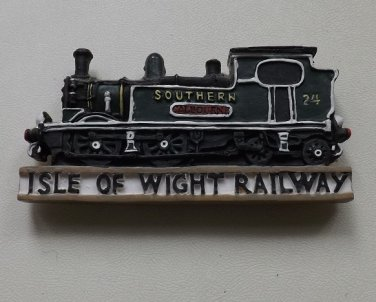 ISLE OF WIGHT RAILWAY STEAM LOCOMOTIVE FRIDGE MAGNET