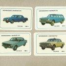 VINTAGE GAZ VOLGA RUSSIAN CAR CALENDAR CARDS 1988