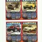 SAFARI FOUR WHEEL DRIVE UKRAINIAN LANGUAGE SCRATCH LOTTERY CARDS SET OF FOUR