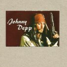 JOHNNY DEPP PIRATES OF THE CARIBBEAN RUSSIAN LANGUAGE CALENDAR CARD BOOKMARK 2009