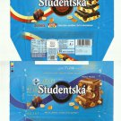 PAIR OF STUDENTSKA 180gr CHOCOLATE WRAPPERS FROM THE CZECH REPUBLIC