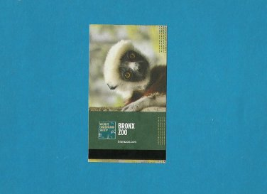 BRONX ZOO NEW YORK UNITED STATES ENTRY TICKET 2013