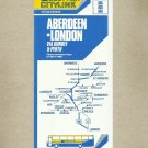 SCOTTISH CITYLINK ABERDEEN LONDON VIA DUNDEE AND PERTH TIMETABLE 1986