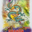YEAR OF THE DRAGON CARTOON UKRAINIAN RUSSIAN ENGLISH LANGUAGE A5 SIZE CALENDAR 2012