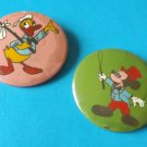 MICKEY MOUSE DONALD DUCK PAIR 1970s 1980s SOVIET ERA PIN BADGES