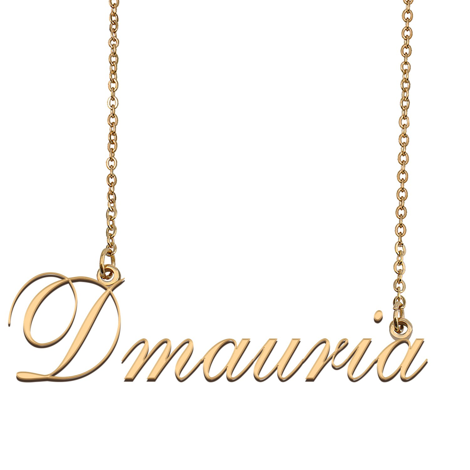 Customized Name Necklace 18K Gold Plated Jewelry Gift for Girlfriend for Her Kahlil