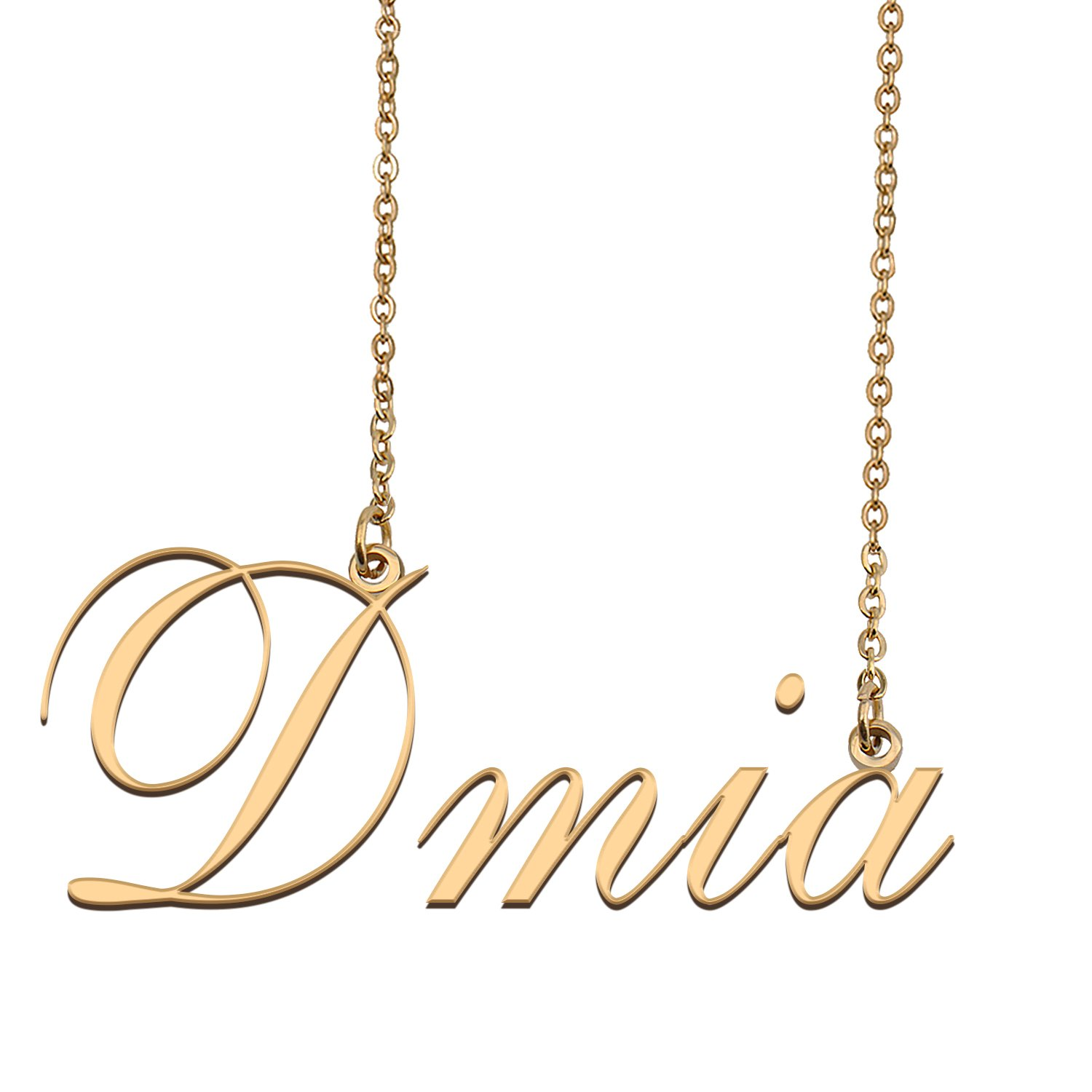 Customized Name Necklace 18K Gold Plated Jewelry Gift for Girlfriend for Her Kahmari