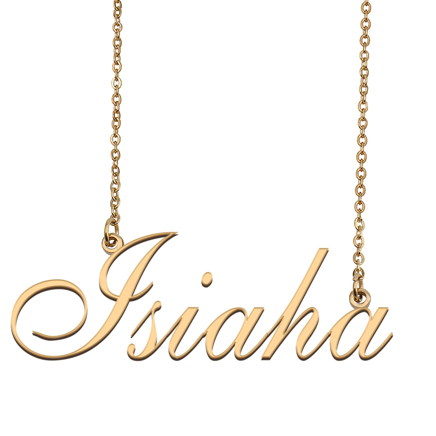 Personalized Custom 18k Gold Plated Any Name Necklace for Women Lovie
