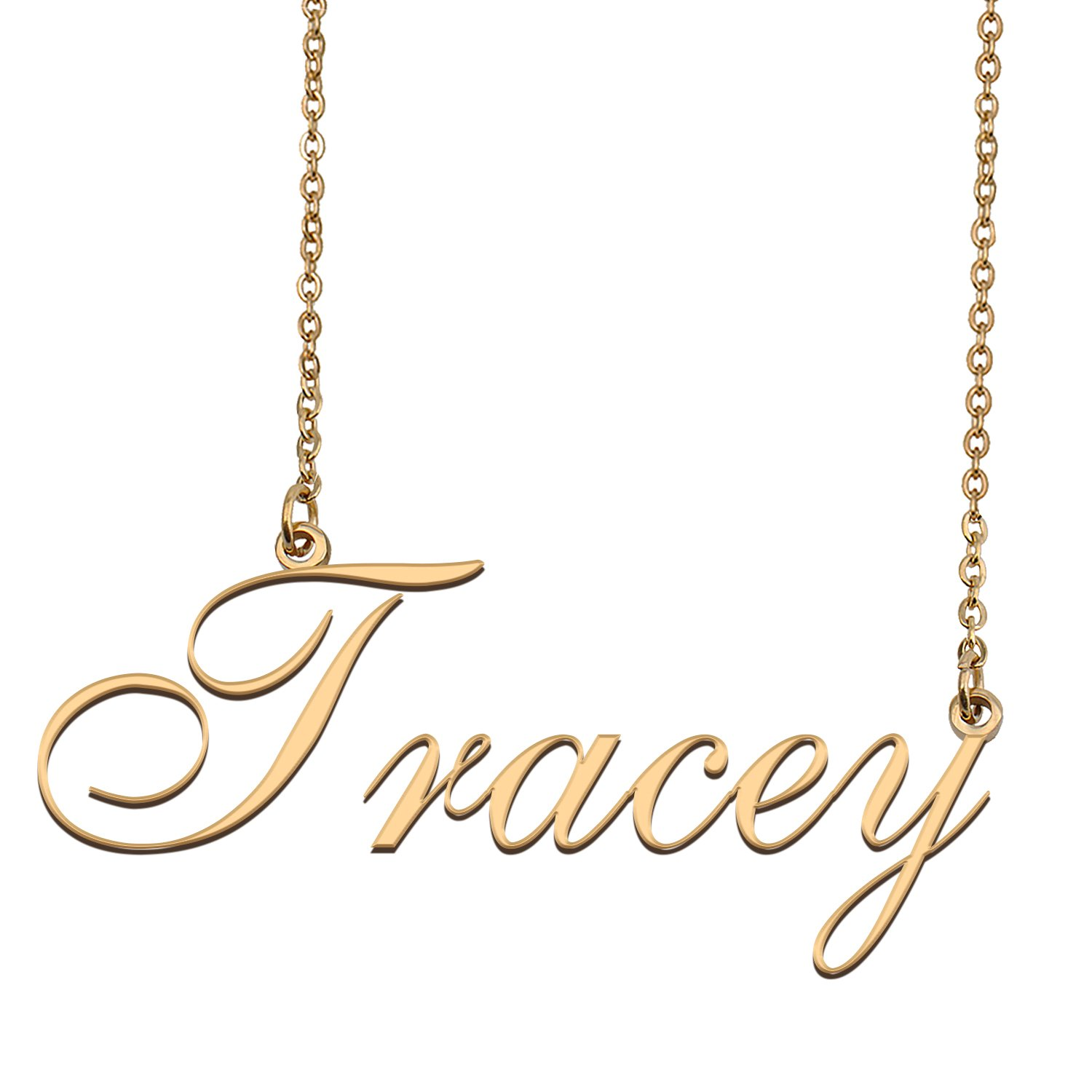 Custom Personalized Name Necklace in Golden Silver for Women Tracey