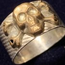 """Extremely Rare German SS """"Kantinen"""" Silver Ring with skull (Totenkopf) (Worldwide FREE shipping)"""