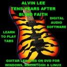Alvin Lee Ten Years After Guitar TAB Lesson CD 110 TABS 6 BTs BONUS Blind Faith