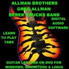 Allman Brothers Guitar TAB Lesson CD 224 TABS 23 BTs + MEGA BONUS Gregg Allman