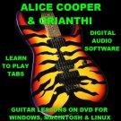 Alice Cooper Guitar TAB Lesson CD 676 TABS 41 Backing Tracks + BONUS Orianthi