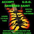 Accept Guitar TAB Lesson CD 323 TABS 15 BTs + MEGA BONUS U.D.O. Armored Saint