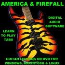 America Guitar TAB Lesson CD 173 TABS 12 Backing Tracks + MEGA BONUS Firefall