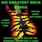300 Greatest Rock Songs Guitar TAB Lesson CD 300 TABS 300 Backing Tracks + BONUS