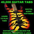 40,000+ Guitar & Bass TABS Lesson CD All Genres 804 Backing Tracks + MEGA BONUS