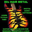 80s Hair Metal Bands Guitar & Bass TAB Lesson CD 9263 TABS 624 Backing Tracks