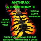 Anthrax Guitar TAB Lesson CD 503 TABS 45 Backing Tracks + MEGA BONUS Symphony X