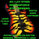 As I lay Dying Dragonforce Still Remains Guitar TAB Lesson CD 361 TABS 30 BTs
