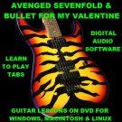 Avenged Sevenfold Guitar TAB Lesson CD 688 TABS 99 BTs + Bullet For My Valentine