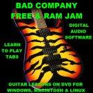 Bad Company Guitar TAB Lesson CD 271 TABS 18 BTs + HUGE MEGA BONUS Free Ram Jam