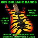 80 Big Hair 80s Rock Bands Guitar & Bass TAB Lesson CD 2524 TABS 139 BTs + BONUS