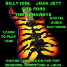 Billy Idol Joan Jett Lita Ford The Runaways Guitar TAB Lesson CD 243 TABS 31 BTs