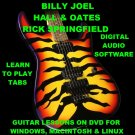 Billy Joel Hall and Oates Rick Springfield Guitar TAB Lesson CD 338 TABS 54 BTs
