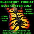 Blackfoot Guitar TAB Lesson CD 476 TABS 16 BTs + BONUS Foghat Blue Oyster Cult
